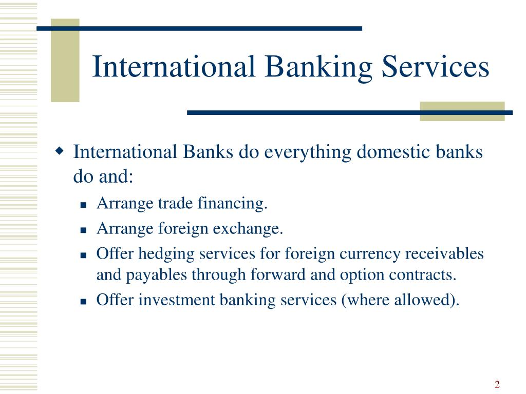 International Banking Services