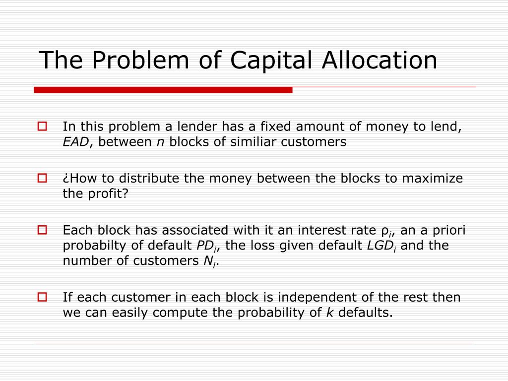The Problem of Capital Allocation