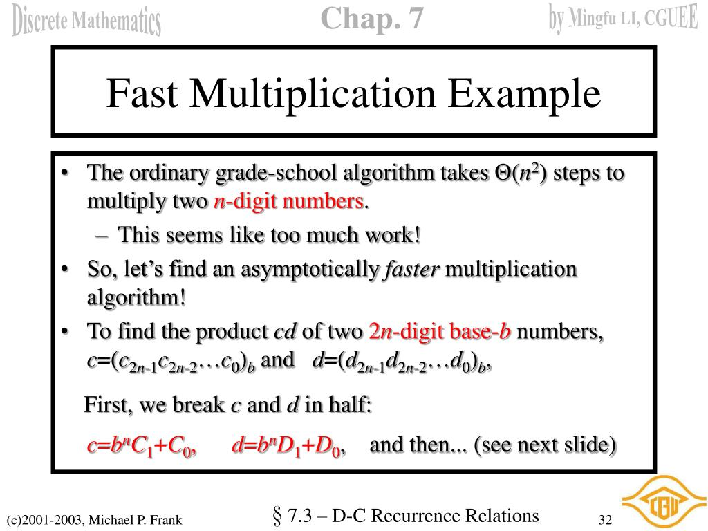 Fast Multiplication Example