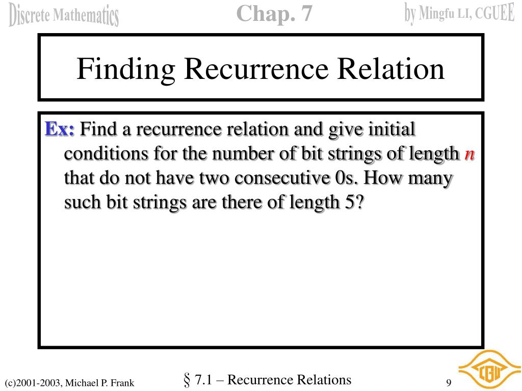 Finding Recurrence Relation