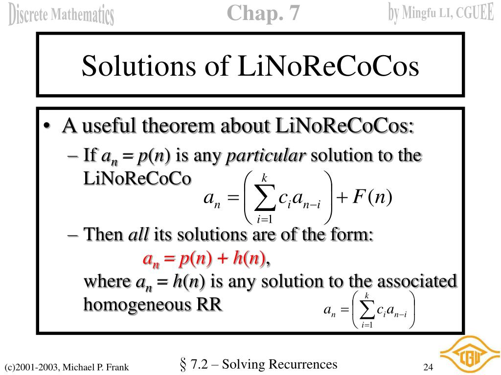 Solutions of LiNoReCoCos