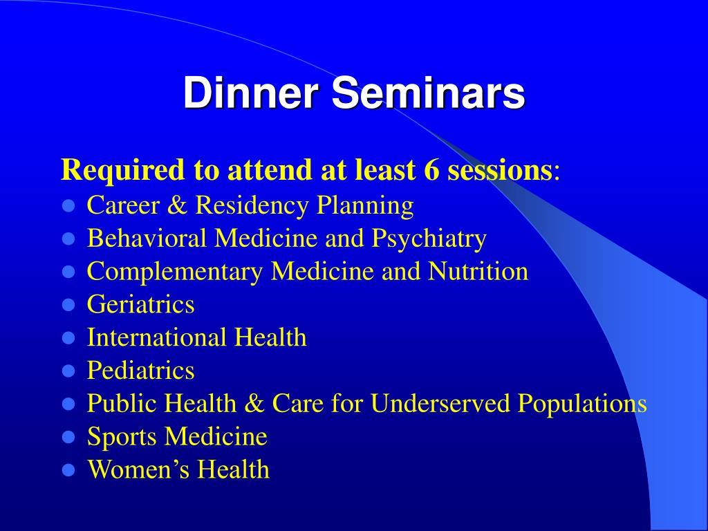 Dinner Seminars