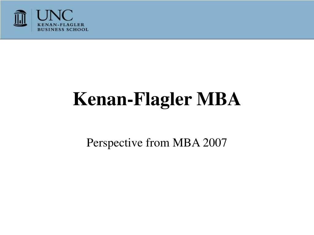 Kenan-Flagler MBA