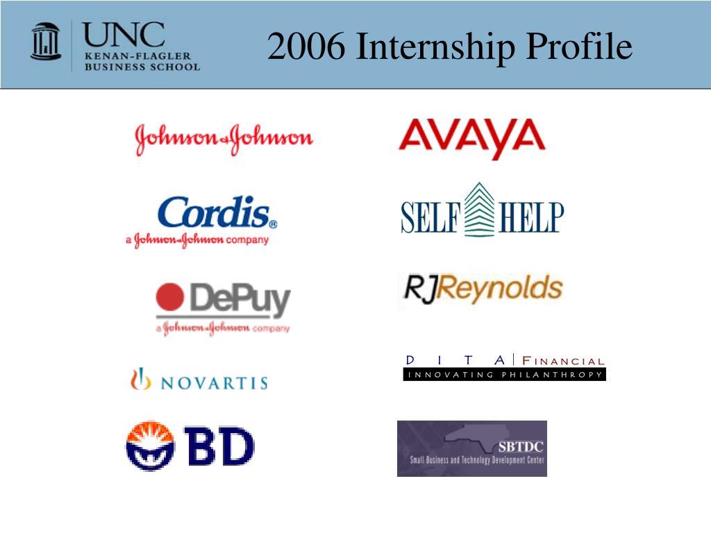 2006 Internship Profile