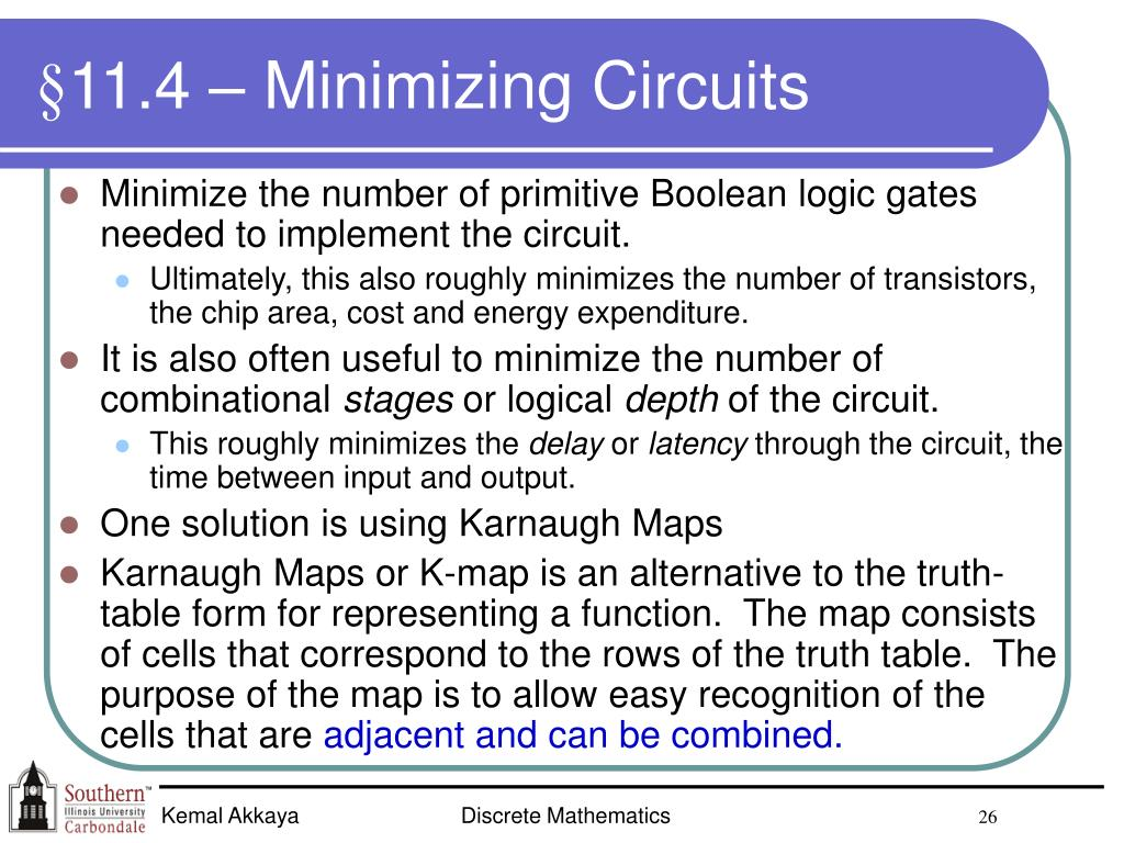 §11.4 – Minimizing Circuits