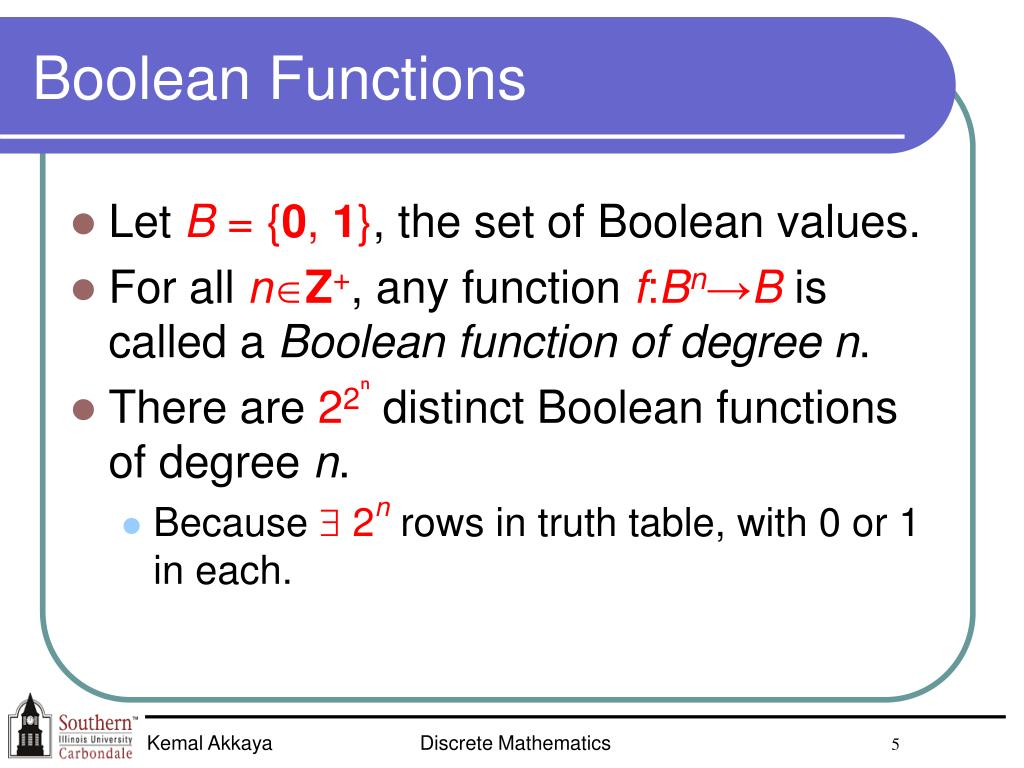 Boolean Functions