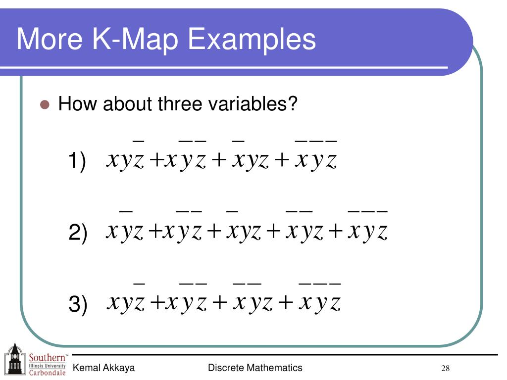 More K-Map Examples