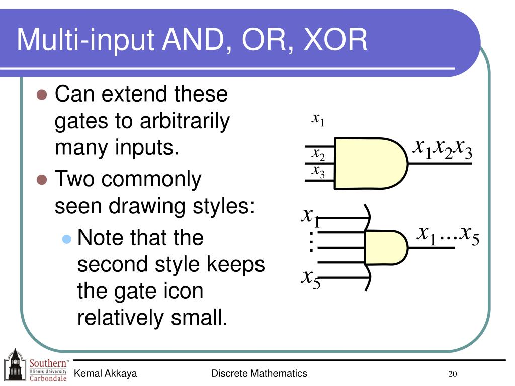 Multi-input AND, OR, XOR