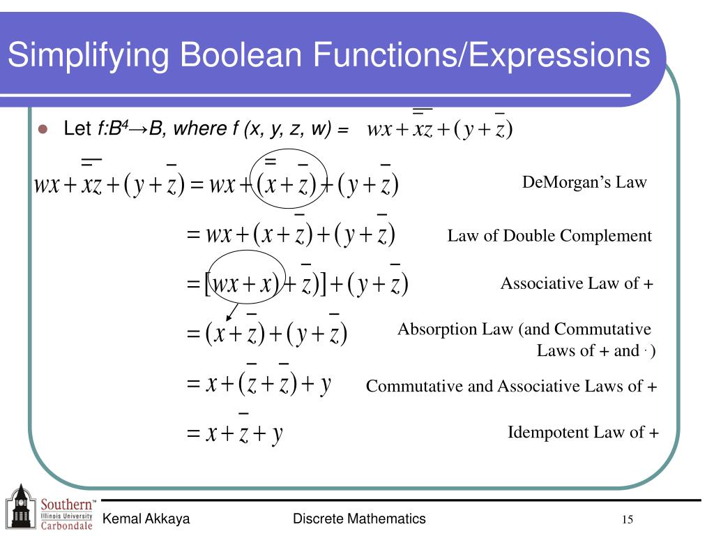 Simplifying Boolean Functions/Expressions