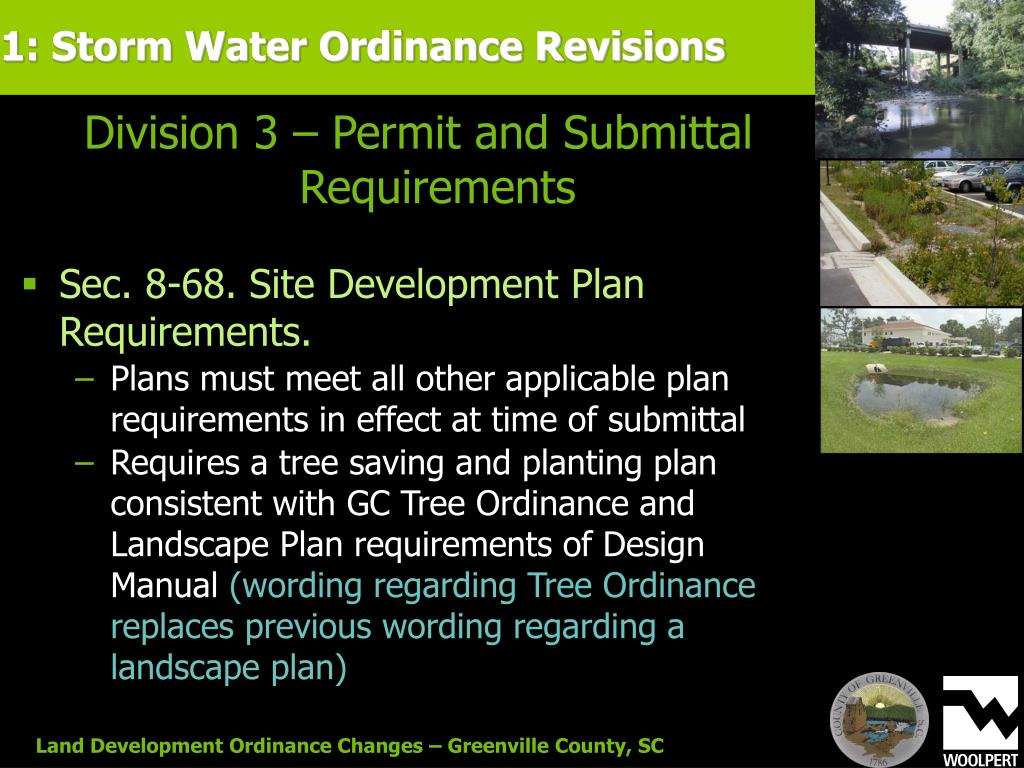 1: Storm Water Ordinance Revisions