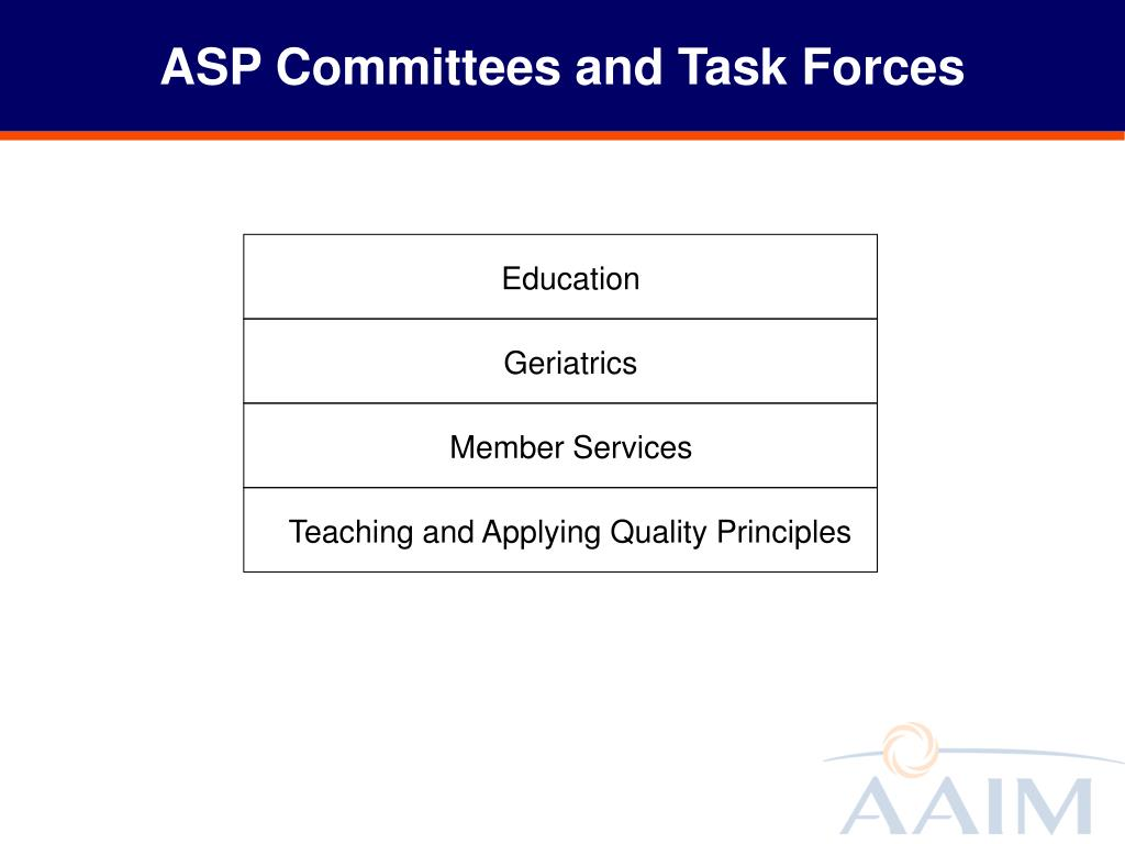 ASP Committees and Task Forces