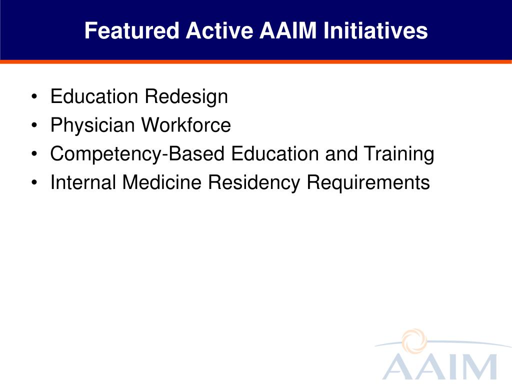 Featured Active AAIM Initiatives