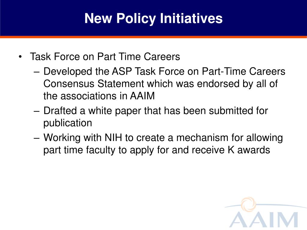 New Policy Initiatives