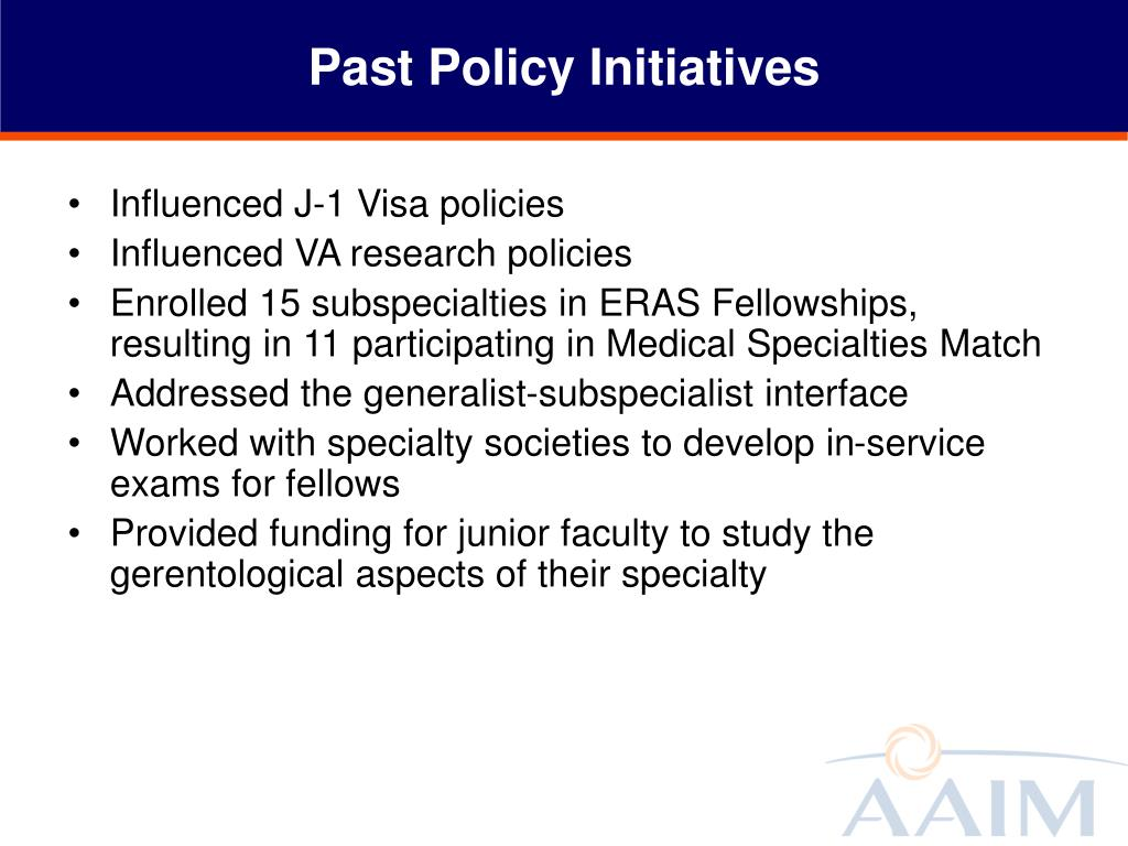 Past Policy Initiatives