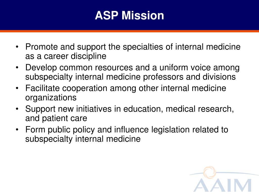 ASP Mission