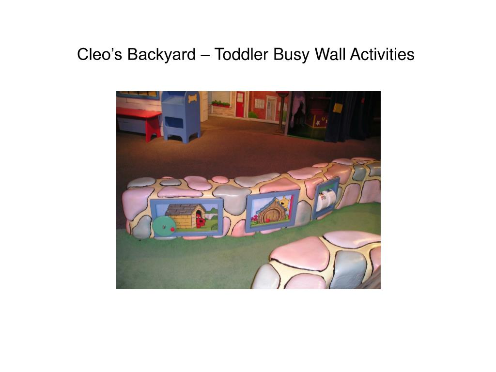 Cleo's Backyard – Toddler Busy Wall Activities