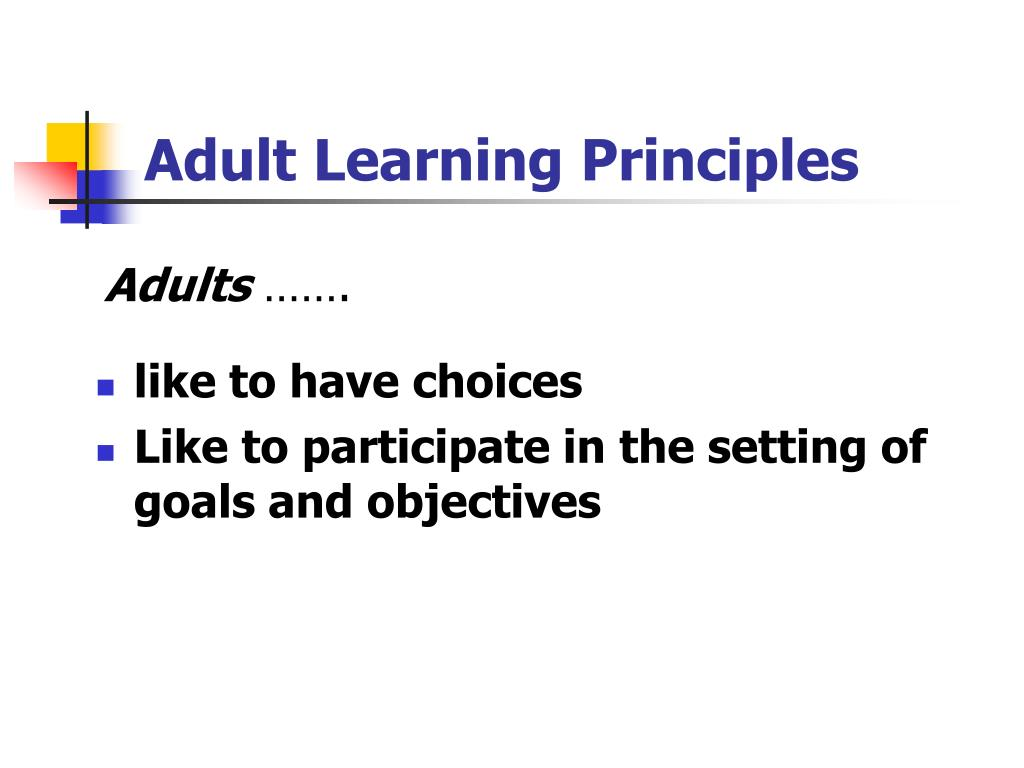 Adult Learning Principals 90
