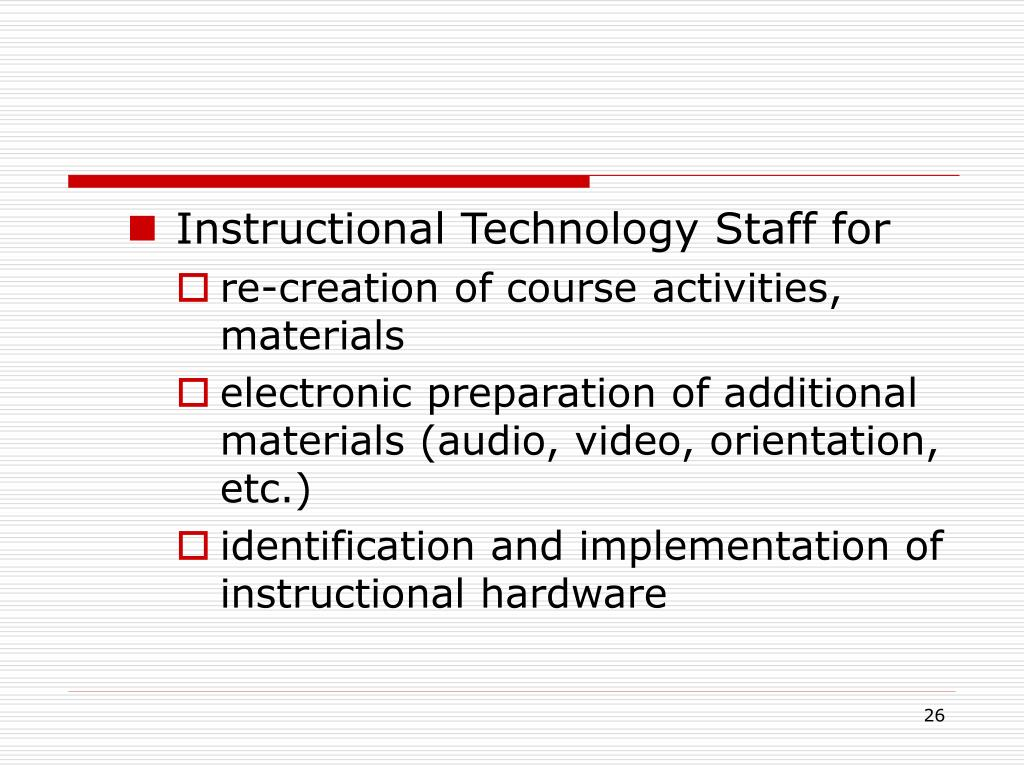Instructional Technology Staff for