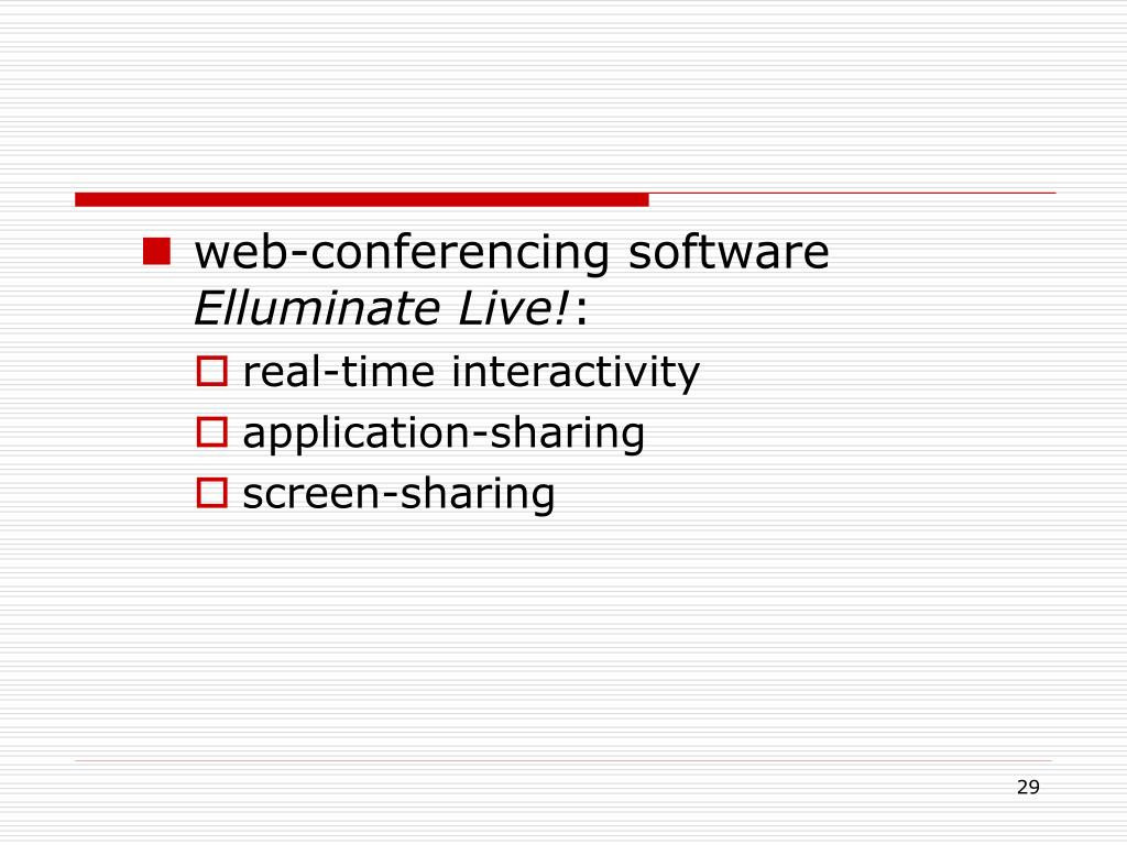 web-conferencing software