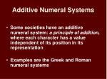 additive numeral systems