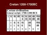 cretan 1200 1700bc