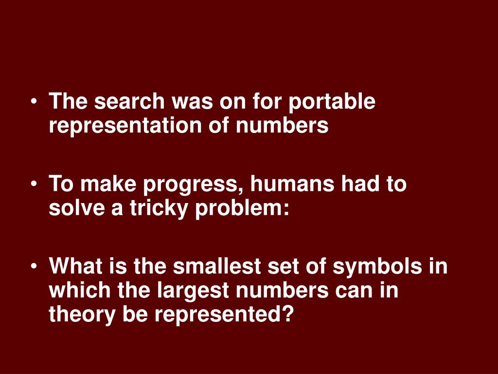 The search was on for portable representation of numbers