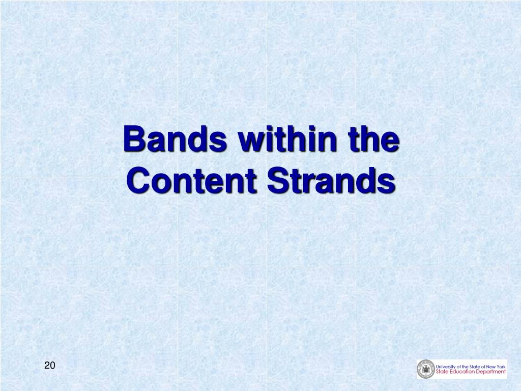 Bands within the
