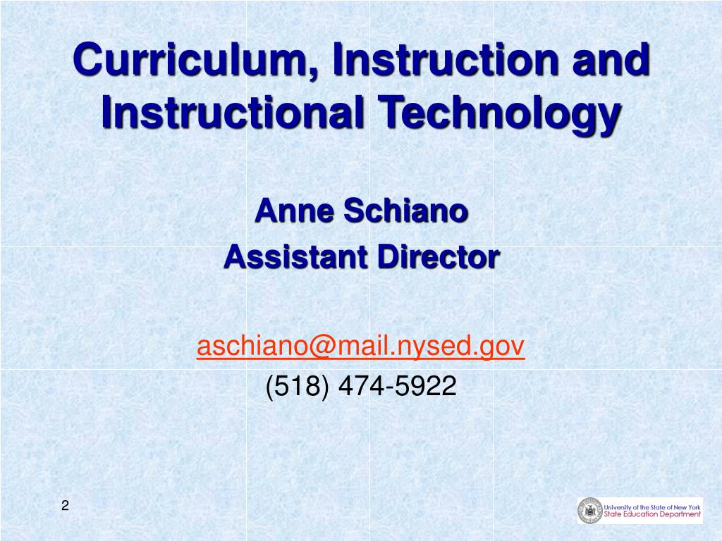 Curriculum, Instruction and Instructional Technology