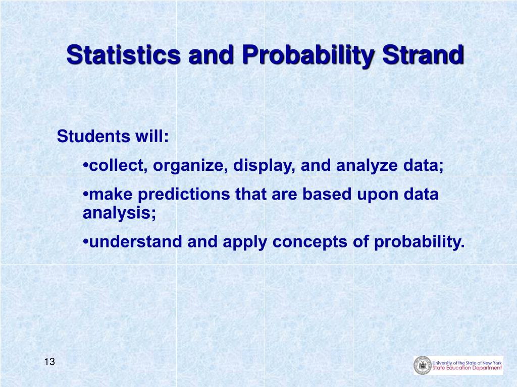 Statistics and Probability Strand