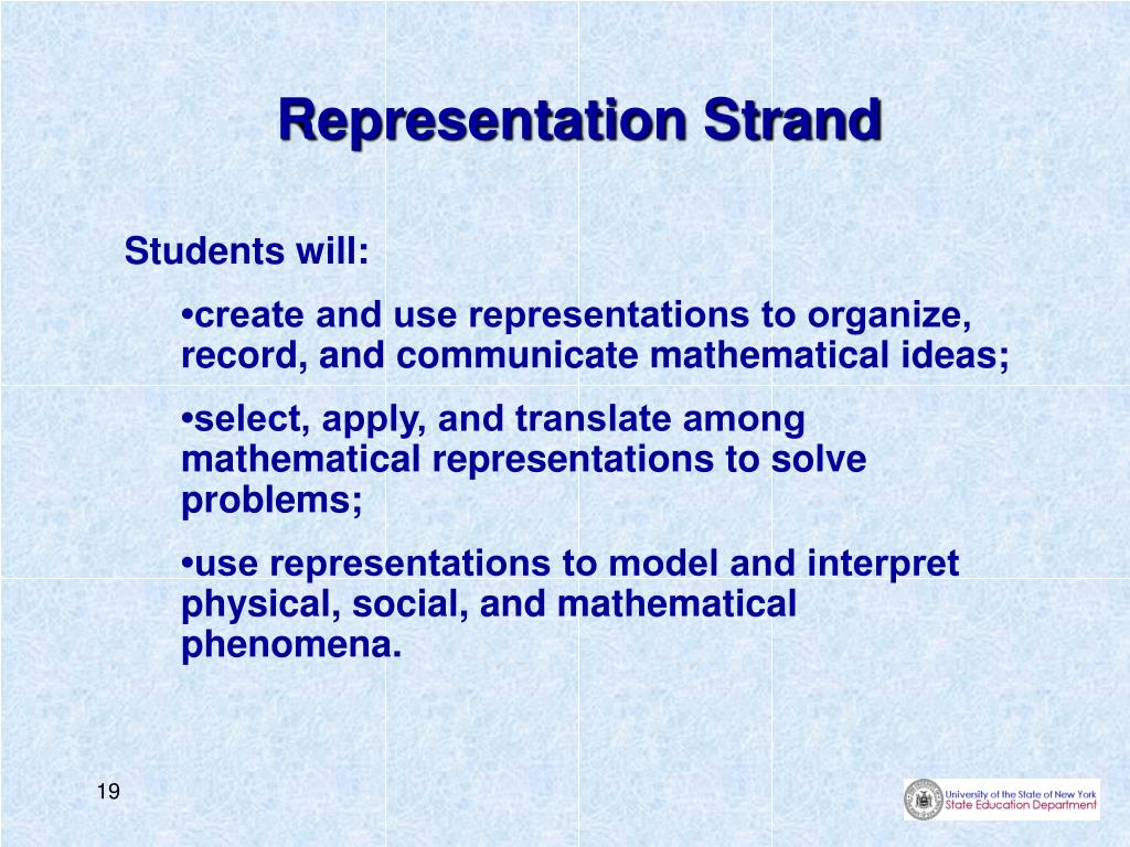Representation Strand