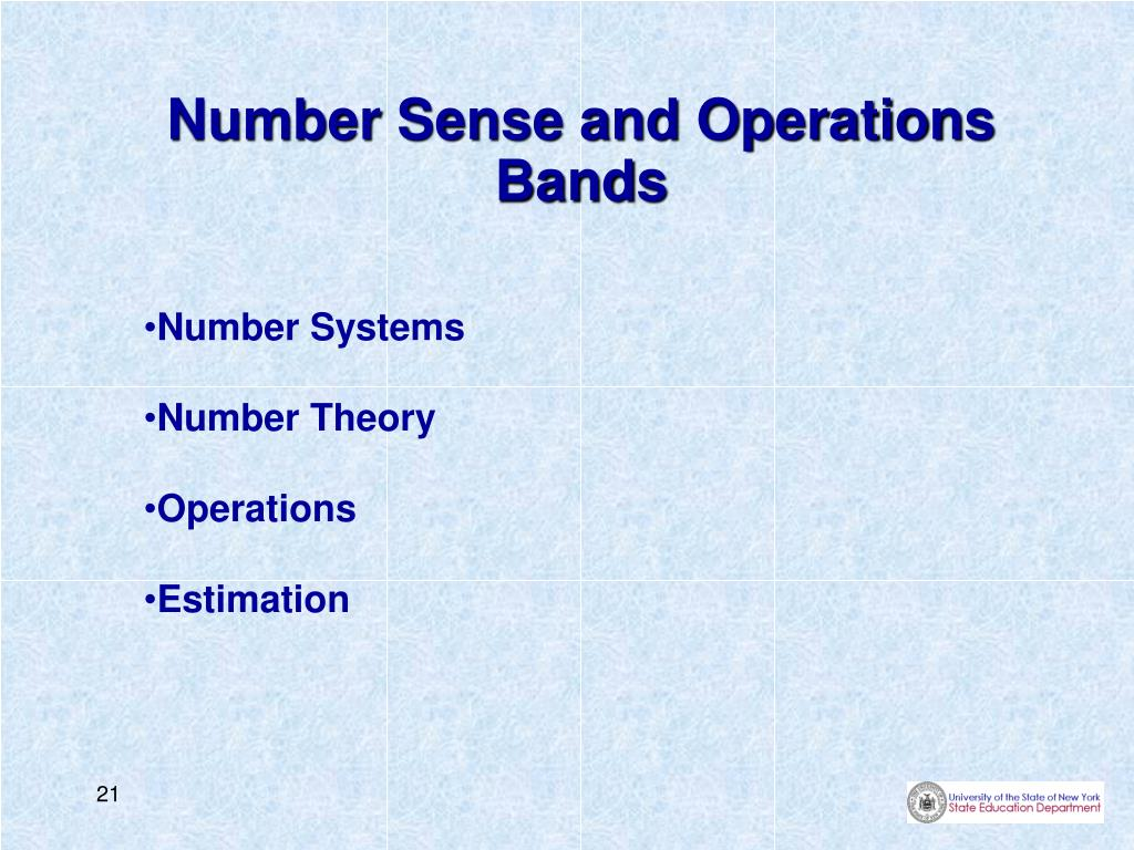 Number Sense and Operations Bands
