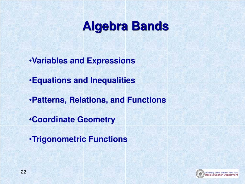 Algebra Bands