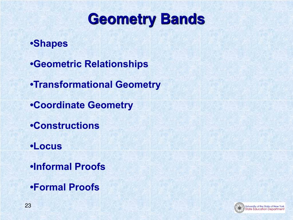 Geometry Bands