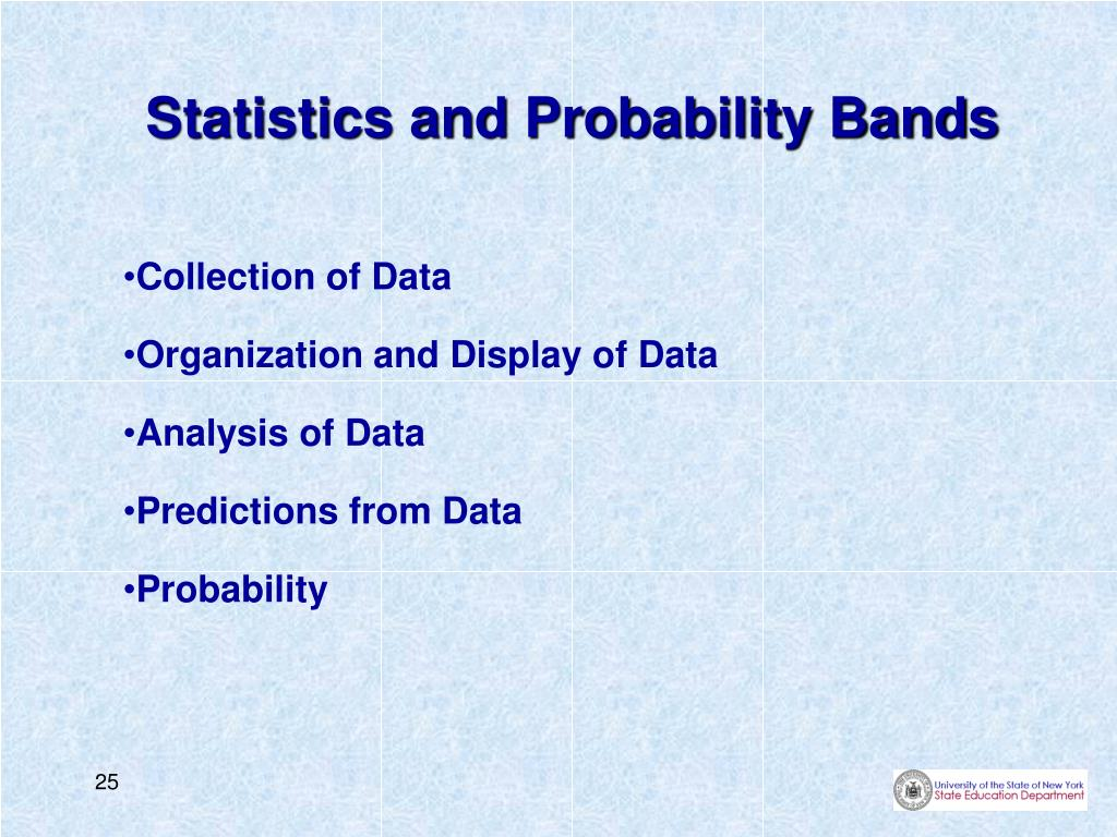 Statistics and Probability Bands