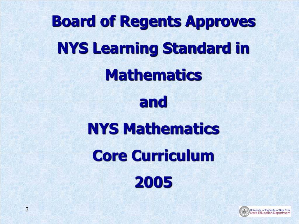 Board of Regents Approves