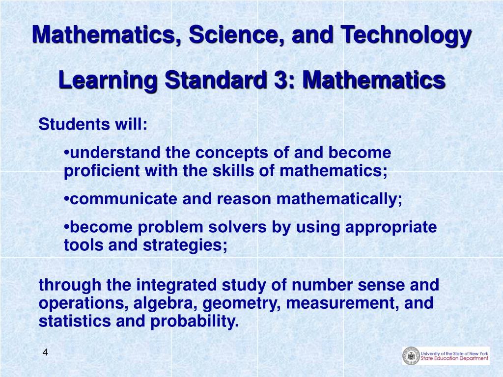 Mathematics, Science, and Technology