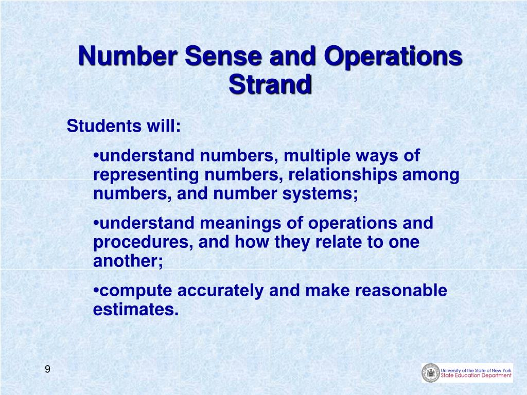 Number Sense and Operations Strand