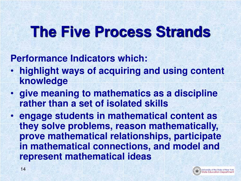 The Five Process Strands