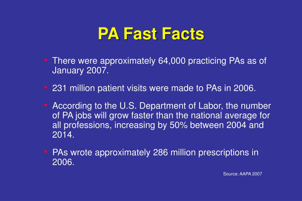 PA Fast Facts