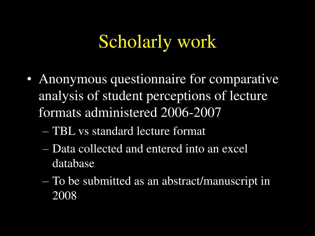 Scholarly work
