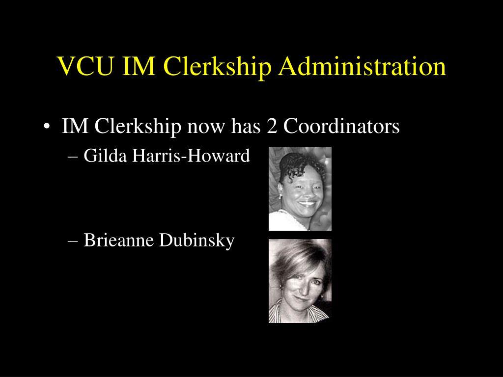 VCU IM Clerkship Administration