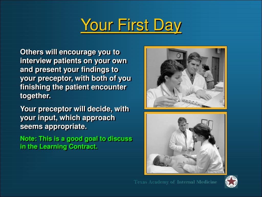 Your First Day