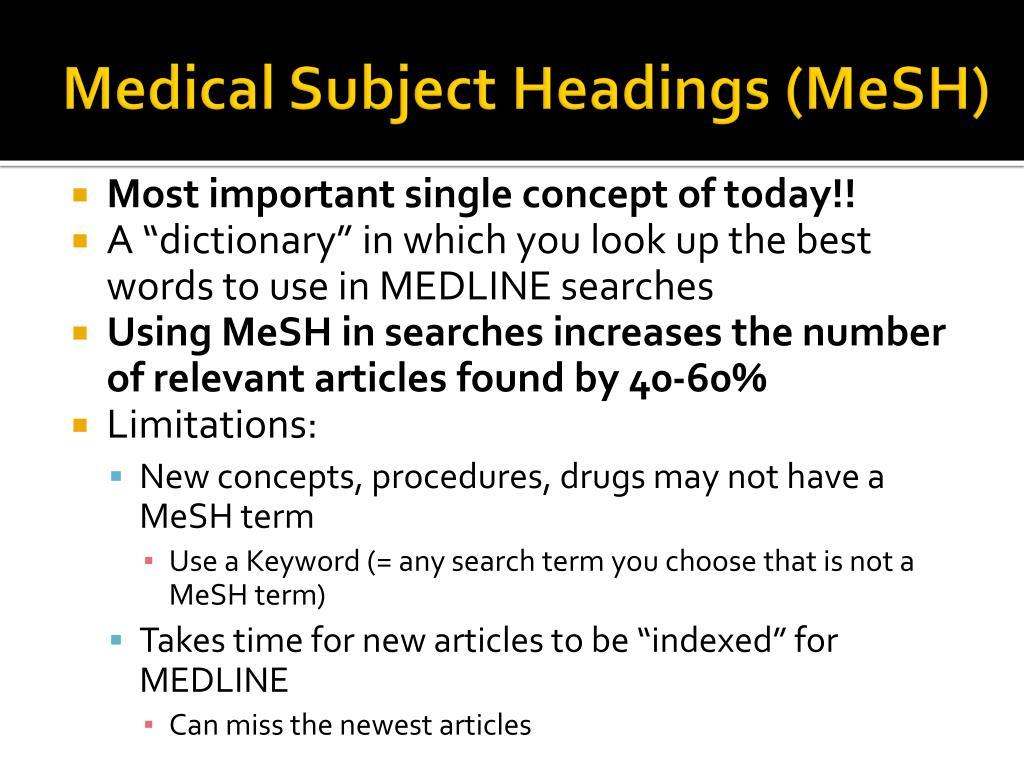 Medical Subject Headings (