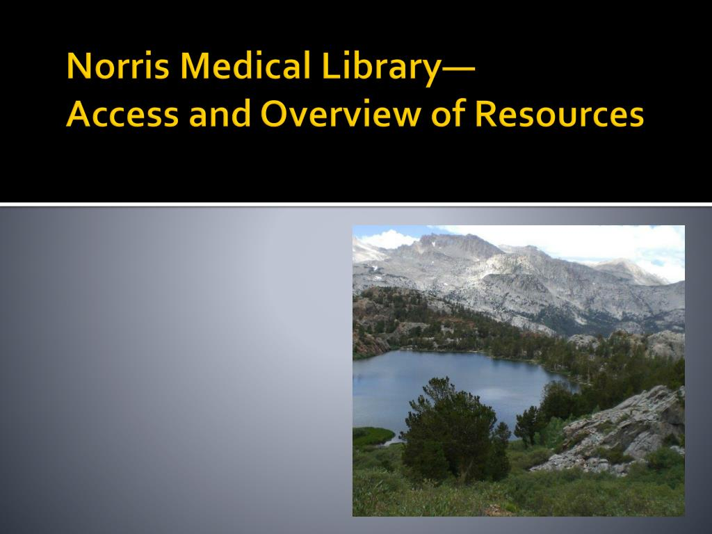 Norris Medical Library—