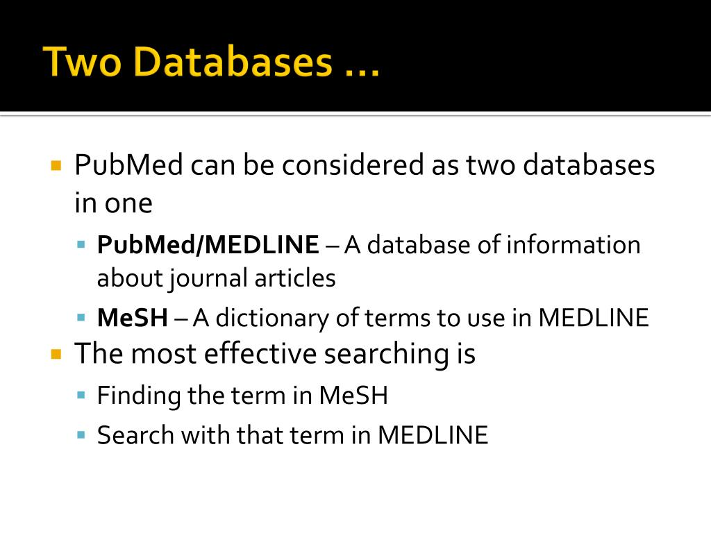 Two Databases …