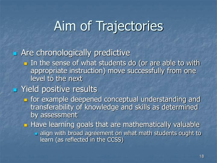 Aim of Trajectories