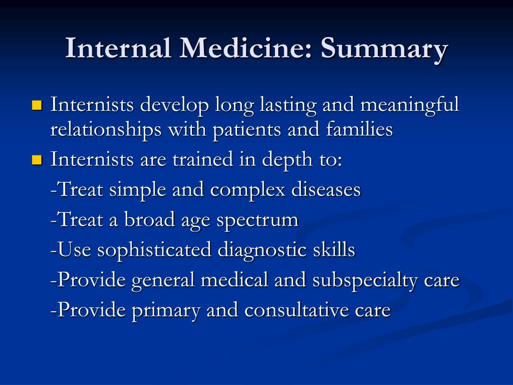 Internal Medicine: Summary