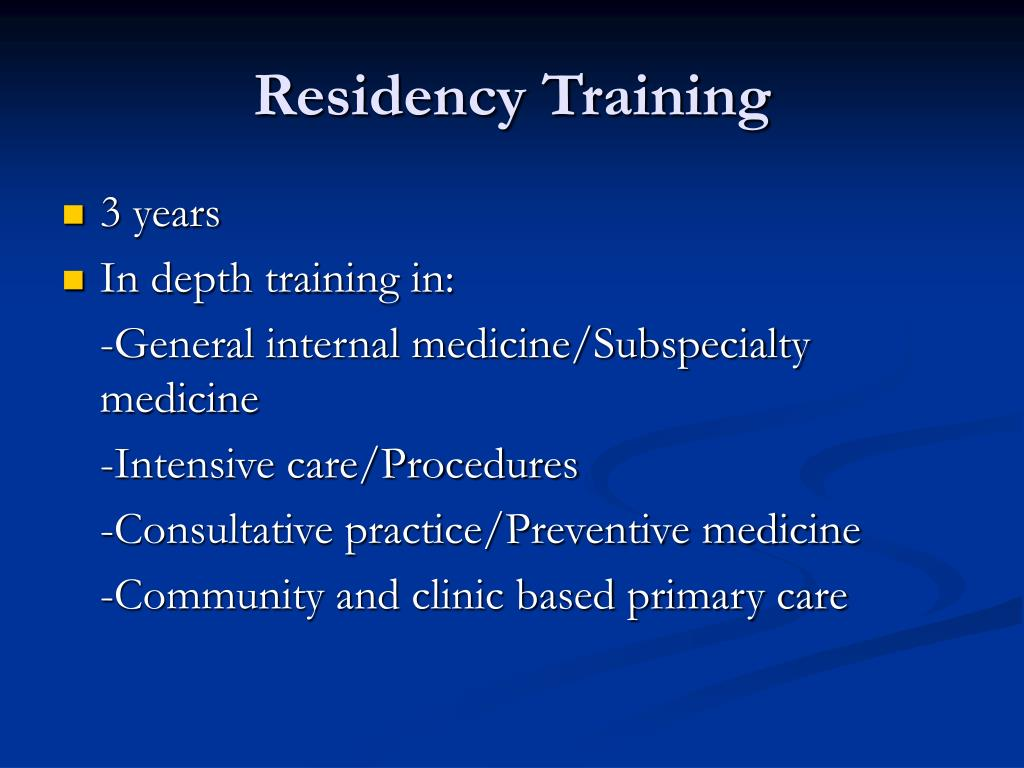 Residency Training