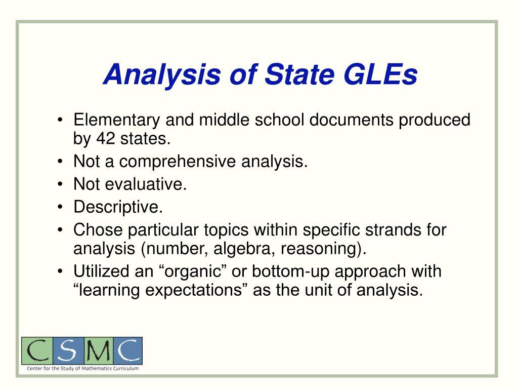 Analysis of State GLEs