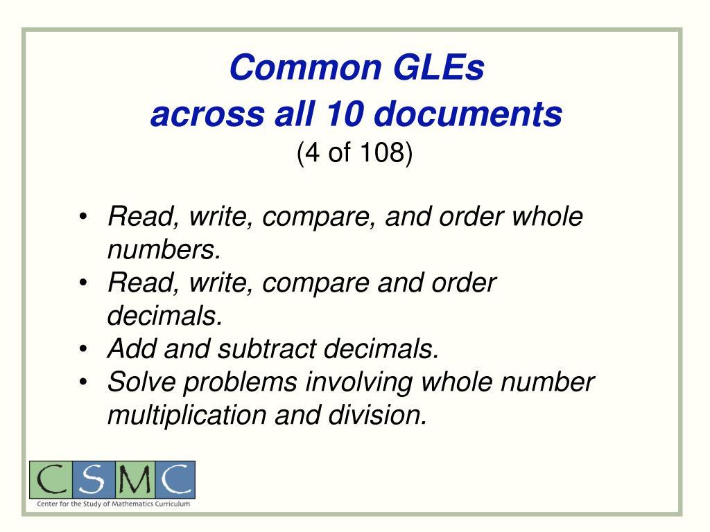 Common GLEs